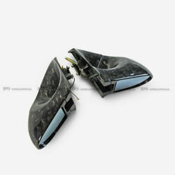 For Mitsubishi Evo 10 X Rhd Forged Carbon Look Aero Rearview Side Mirror 2pcs