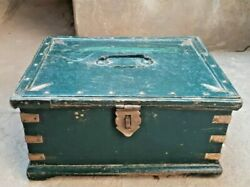 Vintage Wooden Box Hand Crafted Money / Jewellery Multi Purpose Collectibles