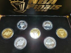 Extremly Rare 1996 Nba Finals 7 .999 Silver Coin Set Only 300 Sets Exist