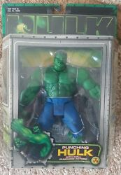 New Marvel Incredible Hulk Wall Punching Movie Action Figure 2003 Toy Biz S26