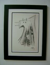 Cuban Art By Wilfredo Lam Open Edition Serigraph On Cotton Paper
