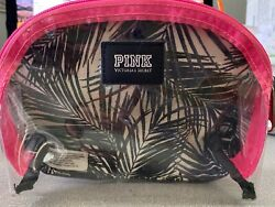 Victoria#x27;s Secret Pink Nation Spring Break Palm Clear Cosmetic Bag Poolside EUC $5.00