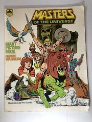 1984 He Man Masters Of The Universe Giant Picture Book Heroic Warriors Motu