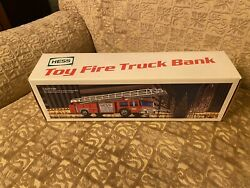 1986 Hess Fire Truck Bank With Box, Inserts And Working Lights And Siren