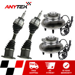 4pc Front Cv Axle+wheel Hub Bearing For 2003-2006 Ford Expedition Navigator 4wd
