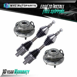 Front Cv Axle And Wheel Hub Bearing For 2002-2004 2005 Dodge Ram 1500 4wd W/ Abs