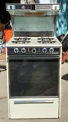Kenmore Cassette 24-inch Gas Stove W Built-in Exhaust Back Light Clock All In 1