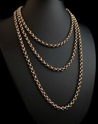 Antique Victorian 9ct Gold Longuard Chain Muff Chain Necklace