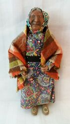 Antique Princess Angeline Daughter Of Chief Seattle American Indian 8 Doll