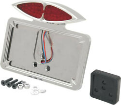Taillight Led Deco W/ 3 Holes Fender-mount License Plate - Drag Specialties