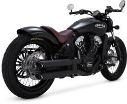 Muffler Twin Slash Staggered Slip-ons Matte Black - Indian Scout Abs Sixty Bo...