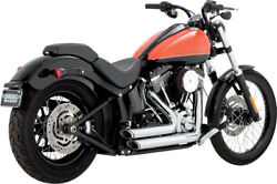 Exhaust System Short Shots Staggered Chrome - Harley Davidson Abs Softail Boy...