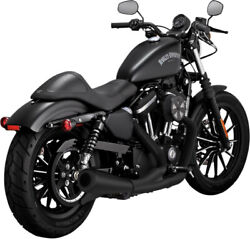 Exhaust System 2-into-1 Upsweep Black - Harley Davidson Xl Sportster Abs L N ...