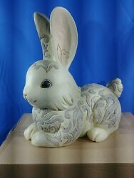 Jim Shore Easter White Woodland Bunny Large Statue 6004768 New 2018