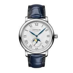Man Wrist Watch Star Legacy Moonphase 126079 Automatic Blue Leather