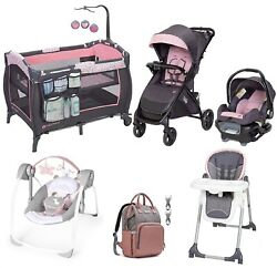 First Birth Baby Gift Stroller And Car Seat Playard Swing Chair Bag Travel Combo