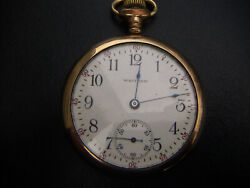 1899-1904 Antique Old Vintage Collectible Waltham Open Face Pocket Watch Running