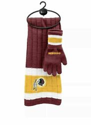 Washington Redskins Scarf And Gloves Set In Sealed Packaging Great Gift