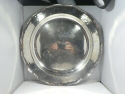 Large Camusso Sterling Silver Round Tray 32.85 Troy Ounces