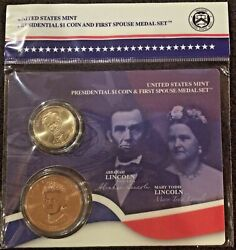 2010 Abraham Lincoln Presidential Mary Todd First Lady Spouse Coin And Medal Set