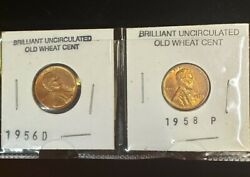1958 P And 1956 D Wheat Penniesestate Findvgcfree Shipping