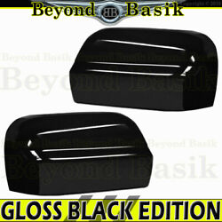 For 2016-2021 Nissan Titan Mirror Covers Non Towing No Signal Hole Gloss Black