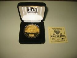 Mlb 2006 All Star Game Limited Edition 24k Plated Gold Coin Collector Rare