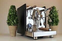 Quick Mill Aquila Black And Wood Edition 1 Group Home Espresso Coffee Machine