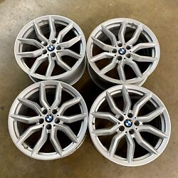 Bmw X5/x6 New Oem Factory Genuine Style 734 19 Wheel And Center Cap Set New Stock