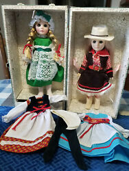 Vintage Effanbee Dolls Extra Cloths And Case 2 Good Condition