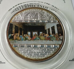 Cook Islands 20 Dollar 2008 Masterpieces Of Art Last Supper 3 Oz Ag Box  №3