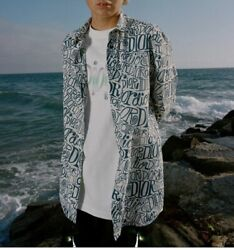 New Dior Sean Stussy Size 42 Xl Dior And Shawn Total Pattern Long Sleeve