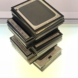 Lot Of 50 Magic Lantern Glass Photo Slides People Places Things Group 34