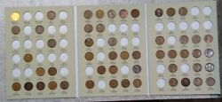 52 Coin 1909 - 1940 Lincoln Wheat Cent Album, Early Dates Collection 505