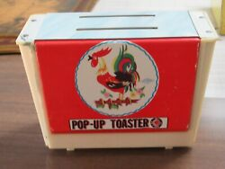 Vintage Wolverine Pop Up Toaster Tin Toy With Rooster