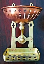 Antique Wall Mount Copper amp; Brass Wall Soap and Sponge Dish Holder