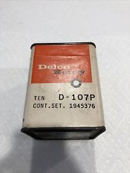 10 Nos Delco Remy D-107p Distributor Contact Sets 1960-61 Chevrolet Corvair
