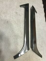1963 Corvette Coupe Pair Nos Windshield Moulding Molding Trim Stainless Lh And Rh