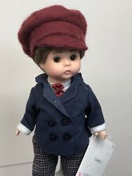 """8"""" Madame Alexander Doll """"little Women Laurie"""" Boy Brunette Cute Outfit W/ Tag"""