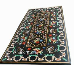 30 X 60 Inches Marble Office Meeting Table Cottage Handicrafts Dining Table Top