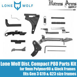 Lone Wolf Lower Parts Kit Compact Fits Glock Gen 1-3 Frames - G19 G23
