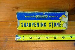Vintage Norton Queer Creek Kb-6 Sharpening Stone For Knives Tools 6x2x1
