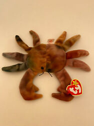 Ty Beanie Babies Claude The Crab 1996| Rare Colors | Retired First Edition