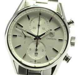 Tag Heuer Carrera Car2111 Date Chronograph Silver Automatic Menand039s Watch_580953