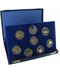France 2002 Coins Complete Casket The Francs After The Euro 8 Silver Coins