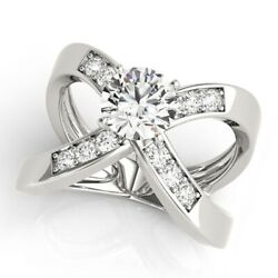 1.00 Ct Natural Diamond Beautiful Engagement Ring Solid 950 Platinum Size M N O