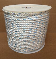1/2 X 600and039 Polydac Poly Dacron Combo Rope Mtc Dock Line And Anchor Climbing Rope
