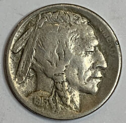 1913-s Buffalo Nickel Type 2 Tough Date Perfect For A Book Kb3069