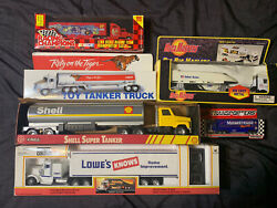Vintage Rare Toy Tractor Trailer Lot New In Boxes Shell Exxon Mega Masters