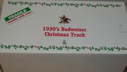 Danbury Mint 1930s Chevy Budweiser Christmas Truck Model 1/24 Scale Model W/box